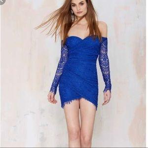 Royal Blue Nastygal Rikki Dress